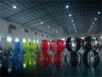 Half Color Bubble Soccer Balls