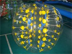 Yellow Color Dots Bubble Soccer Ball 1.5m Diameter for Adults