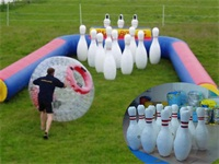 OEM Exciting Inflatable Human Bowling Ball Sports Challenge for Rentals